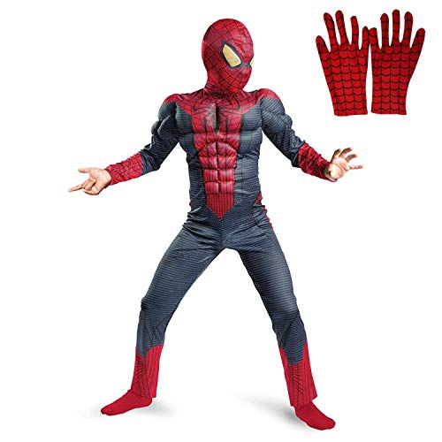 Fancy Steps ® Superhero kid's fancy dress costumes with gloves kindly see Age in dropdown (4 to 6 Yrs)