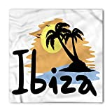 Ibiza Bandana, Balearic Islands Holiday, Unisex Head and Neck Tie 100X100CM