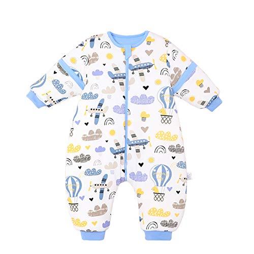 Bebé Saco de Dormir con Piernas Invierno Algodón Pijama Dividida Manga Cálido Mamelucos Dibujos...