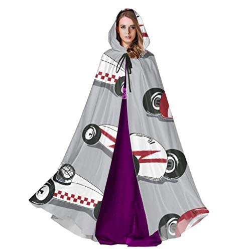 WYYWCY Oldtimer Retro Moderne Verkehr England Erwachsene Mantel Kostüm Mantel Mit Kapuze 59 Zoll Für Weihnachten Halloween Cosplay Kostüme