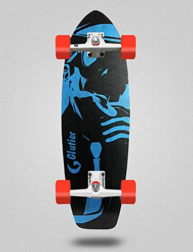 Glutier Surfskate Complete with SGI Surf Skate Trucks - Mafia Gangsta Blue 31