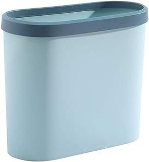 C-J-Xin Kitchen Trash Can, Plastic No Cover Trash Can Living Room Bedroom Bathroom Trash Can High Capacity Trash Can Crack...
