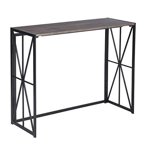 MEUBLE COSY Table Console Table d'appoint Table d'Entrée Bureau Informatique pour Ordinateur, structure en métal 100x38x80cm