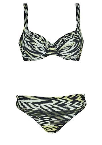 Sunflair Bikini Caribbean Temptation Cup C, Farbe schwarz/grün, Größe 42