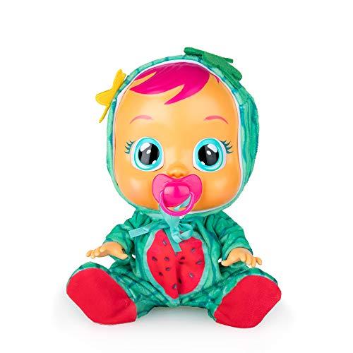 CRY BABIES Tutti Frutti Mel – Interaktive Babypuppe mit Wassermelonenduft und echten Kullertränen