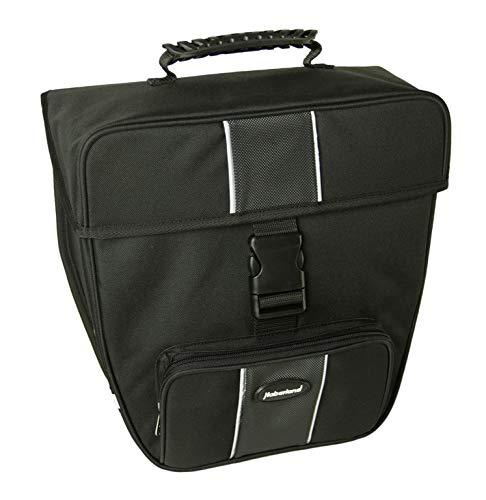 Haberland Unisex– Erwachsene Fahrradtasche Einzeltasche Hakenbefestigung Einzelltasche, schwarz, 16 L