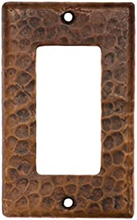 Premier Copper Products SR1 Copper Single Ground Fault/Rocker GFI Switch Plate Cover, Oil Rubbed Bronze
