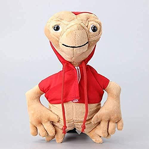 DINGX Karikaturfilm der extra terrestrische rote Mantel und Plüschtiere süße Plüschpuppen Kinder Kinder 22 cm Chuangze
