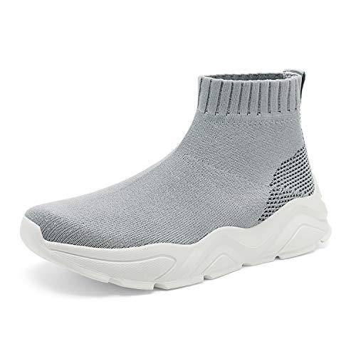 DREAM PAIRS Light Grey Women's Lightweight Fashion Sock Sneakers Casual Walking Shoes Size 6 M US CITYGIRL-1