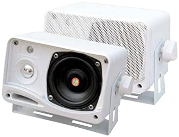 New PYLE PLMR24 3.5in 200W 3-Way Weatherproof Mini-Box Speaker System Capacitor Crossover Network