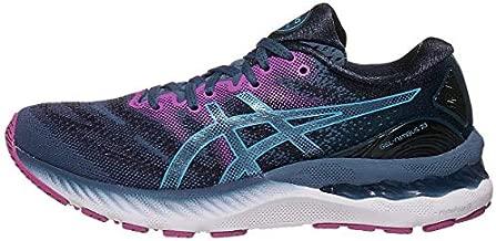 ASICS Women's Gel-Nimbus 23 Running Shoes, 11, Grand Shark/Digital Aqua
