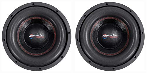 (2) American Bass XFL-1022 2000w 10' Competition Car Subwoofers w/3' Voice Coils