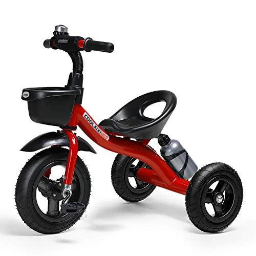 Best Prices! ZFF Tricycle Rider Kids Child Children's Tricycle Stroller Bicycle Baby Toy Car Inflata...
