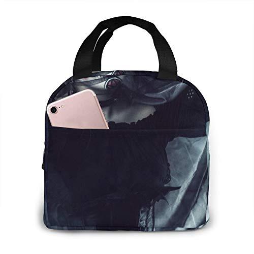 Calavera Catrina - Bolsa de picnic para hombre, mujer, color negro