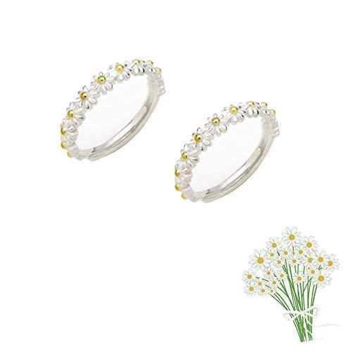 2 pezzi penso a te ogni anello a margherita, semplice anello dolce e carino con fiore margherita anello da dito aperto regolabile