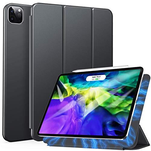 ZtotopCase Hülle für iPad Pro 11 2021(3rd Generation)/iPad Pro 11 2020(2nd Generation), Trifold Stand Schutzhülle Case Cover mit Auto Aufwachen/Schlaf, Ultra Dünn Magnetische Abdeckung-Dunkelgrau