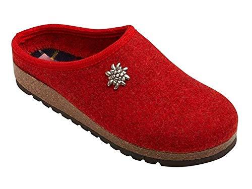 Südtirol Style by Flocky Pantofole Stella Alpina (39 EU, Rosso)