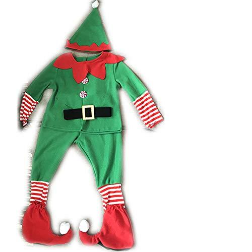 Cos KostüM Halloween Kinder MäNner Und Frauen Weihnachten Elf Weihnachten Cosplay Eltern-Kind-KostüM KostüM 150Cm (Mann)