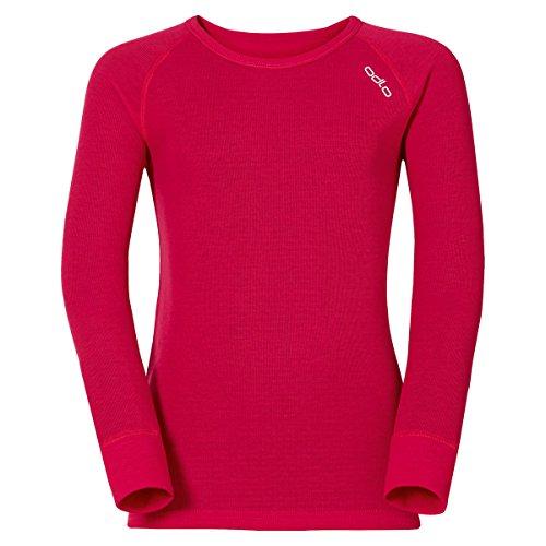 Odlo Suw Top Crew T-Shirt à col Rond pour Enfant L/S Active Originals, Enfant, 10459, Rouge chiné, 80 cm