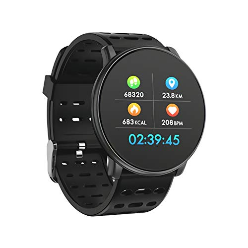 CCFCF Smart Watch IP67 Waterdicht, Fitness Tracker Horloge met Stappenteller Hartslagmeter Slaap Tracker, Smartwatch Compatibel met iPhone Samsung