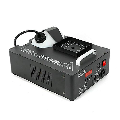 Aohuada 24LED 1500W RGB Fog Nebelmaschine Smoke Effekt Bühnenlicht Party DJ Disco DMX Vertikale Fogger UpSpray Dunst-Effekt LED Rauch vertikal Fernbedienung Remote
