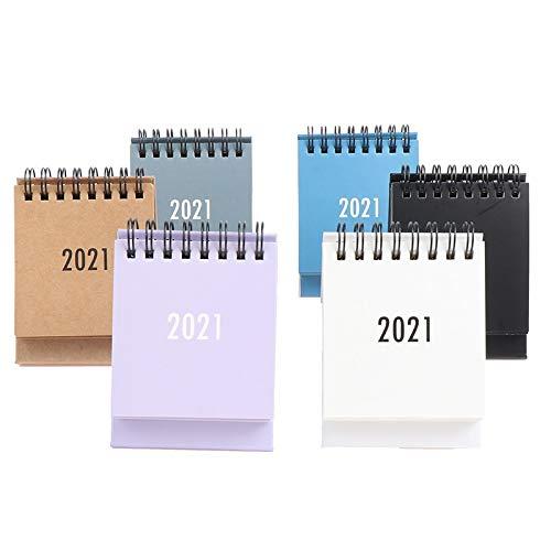 Calendario de escritorio Plan de 2021 Mini calendario de escritorio portátil Notebook calendario de escritorio Este mes, utilizando for la oficina dormitorio del calendario de escritorio Calendario de