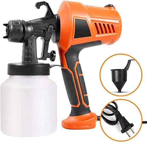 Fence Electric Paint Sprayer, 800ml Detachable Container,Adjuable Knob Nozzle, Fence Sprayer with 3 Painting Modes, for Furniture Garden Paint Sprayers,500W,Orange
