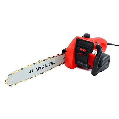 Motosierra eléctrica con cable de 2000 W, con velocidad de 400 r/min, ultraligera, tender la cadena sin herramientas.