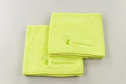TUPPERWARE 2x FaserPro Kosmetik Mikrofasertuch limette 28059