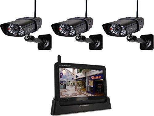 ELRO Digitales Echtzeit-kamerasystem mit 7-Zoll-Touchbildschirm mit 4 Kameras, schwarz, CS87T/4