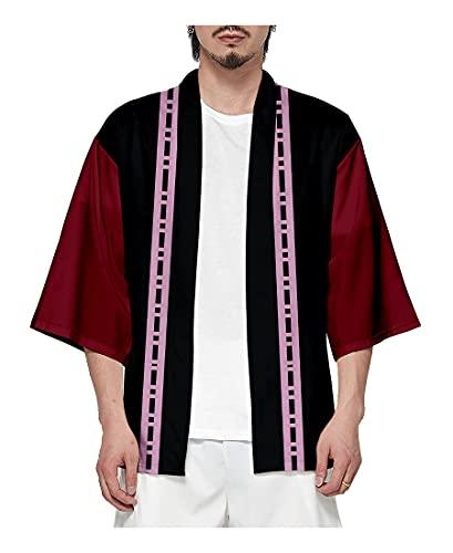 Piccodos Kimetsu no Yaiba Douma Kimono Cosplay Capa Capa Coat Cloak Rojo Version 16 XL