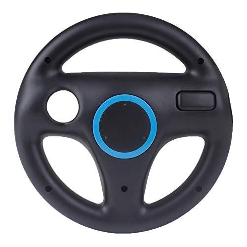 Volante de Wii Mario Kart Racing Wheel, Beinhome Wii Racing Wheel Volante para juegos Nintendo Wii y Wii U Racing Games (negro, 1 paquete)
