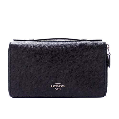 [コーチ] COACH 財布 メンズ セカンドバッグ ポーチ 長財布 パスポートケース 23334QBBK [アウトレット品] [並行輸入品]
