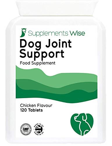 Supplements Wise Dog Joint Care Supplements - With Glucosamine and Chondroitin For Dogs - Powerful Pain Relief Anti Inflammatory Complex - Arthritis Mobility Support - 120 Chicken Flavour Tablets