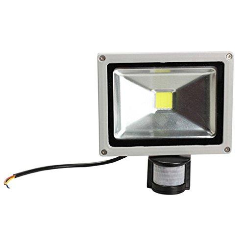 tempo di saldi Faro A Led 20 W Luce Bianca Fredda Con Sensore Di Movimento Crepuscolare IP65