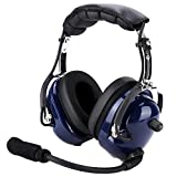V BESTLIFE 24dB Noise Reduction Windproof Foam General Aviation Pilot Headset GA Double Plug for Rugged Air RA200