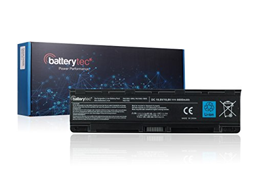 BatterytecA® Laptop Battery for TOSHIBA PA5108U-1BRS PA5109U-1BRS PA5110U-1BRS PABAS271 PABAS272 PABAS273, TOSHIBA Satellite C40-AD05B1 C40-AT15B1 C40-AS20W1 C40-AT19W1 C40-AT01W1 C40-AS22W1 C45-ASC1B C45-AK15B1 C45-AK08B1 C45-AT79B C45-AK06B C45-AK07B C50-AT01W1 C50-AT03W1 C50D-AT01B1 C50-AC09W1 C50-AT08B1, TOSHIBA Satellite C50T C55 C55D C55DT C55T C70 C70-A, TOSHIBA Satellite Pro C70 C70-A, Satellite C75 C75D C75DT C75T. [10.8V , 12 Months Warranty] (6600mAh), [Importado de Reino Unido]