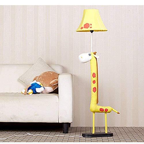 Huishouden meerdere scènes vloerlamp, persoonlijkheid doek kunst cartoon giraf decoratieve verlichting band afstandsbediening op slaapkamer woonkamer studie lamp inbegrepen decoratie staande lamp, afstandsbediening Ein- / Ausschalter