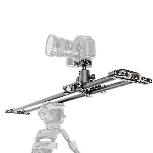 Verstelbare Carbon Fiber Camera Track Slider, Video Stabilizer Rail (max. belasting: 8 kg/18 lbs) met 6 lagers voor Camera Video Movie DSLR Fotografie