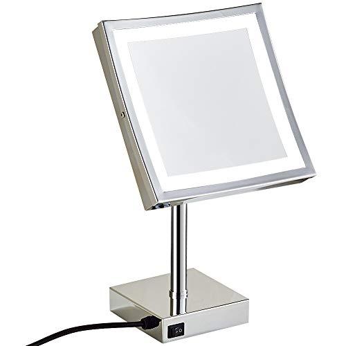 3/Niveaux /élev/és Grossissement au Choix Argent/é Brillant casa pura/® Miroir cosm/étique avec /éclairage LED