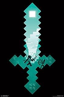 Trends International Minecraft Diamond Sword Wall Poster 22.375