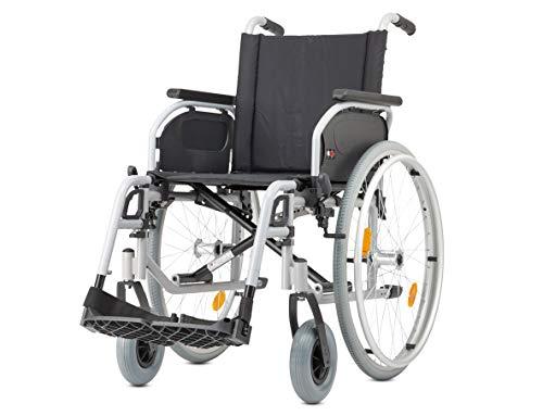 Bischoff Rollstuhl S-Eco 300 Sitzbreite 40 cm Pannensichere Bereifung Duo-Armlehnen Faltrollstuhl Reiserollstuhl