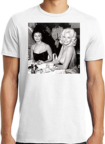 shangfeng Big Guys Rule Big and Tall Funny Sophia Loren Jayne Mansfield Boobs T Shirt