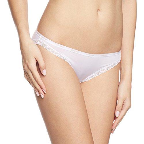 Calvin Klein Damen Slip BOTTOMS UP - BIKINI, Gr. 38 (M), Weiß (100 WHITE)