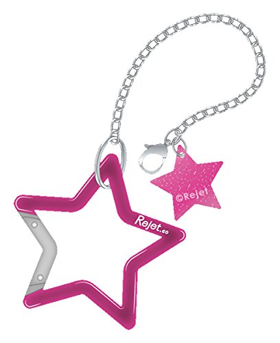 Rejet 星形カラビナ付きバッグチェーン(ピンク)