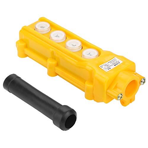 Control de polipasto de grúa Control de interruptor de polipasto portátil de 4 canales Aplicaciones industriales para elevación Control colgante a prueba de lluvia