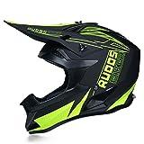 JWL - Casco de moto para competición de montaña, para hombre y mujer, color verde neón, XL