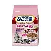 ねこ元気子猫用まぐろ入りかつお(1600g)×6【ケース販売】