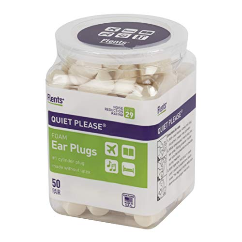 Flents Ear Plugs, 50 Pair, Ear Plugs for Sleeping, Snoring, Loud Noise, Traveling, Concerts,...
