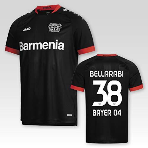 JAKO Bayer 04 Leverkusen Heimtrikot 2020/21 Kinder mit Spielerflock Bellarabi Nr. 38 (152)